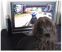 Mike Playing ModNation Racers