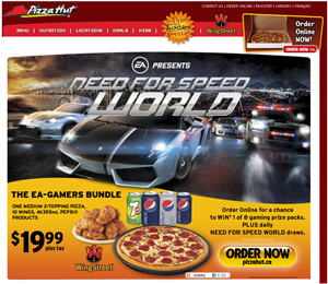 Pizza Hut NFS World Promotion