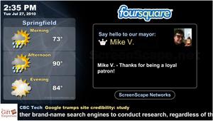 screenscape and foursquare