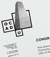 ocadu new logo application example