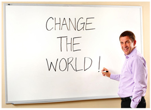 """Walmart Canada CEO David Cheesewright today challenged Canadian students to """"change the world"""" as he launched the Walmart Green Student Challenge. Photo: Walmart Canada"""