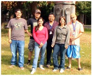Waterkeeper Team From left to right: Nolan Allan, Buck Nelson, Melina Laboucan, Phillip Stewart, Heather Bohn, Daniel Smith
