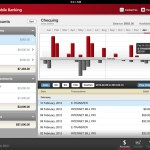 CIBC Mobile Banking App for iPad: Detailed deposits account view with interactive bar graphs