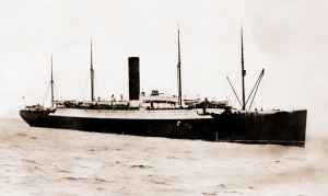 Carpathia Carrying Titanic Lifeboats and Survivors April 1912