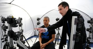 A Marseilles player getting his head scanned