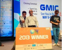 Damir Slogar and Bryan Davis accepting GGS award at GMIC 2013