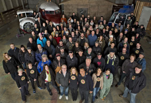 The Arctic Air Crew at the Aldergrove sound stage (image: actorsfund.ca)