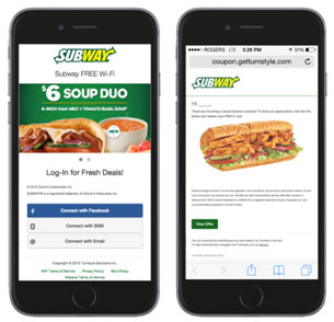 Subway Wifi App