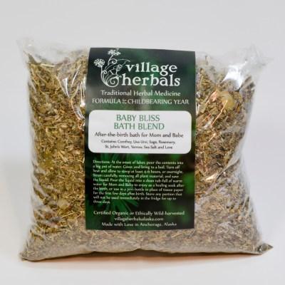 village herbals baby bliss bath blend 1