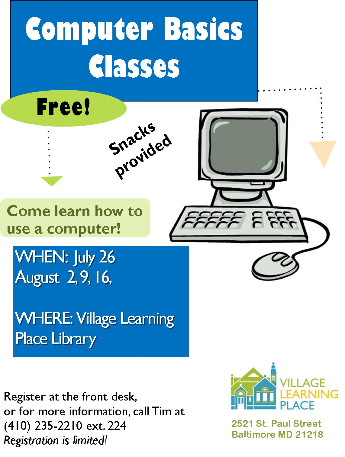 Computer Basics Classes Village Learning Place