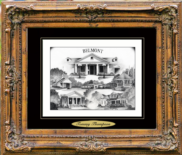 Pencil Drawing of Belmont, MS