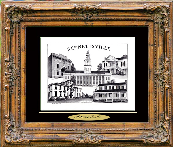 Bennettsville, SC Pencil Drawing