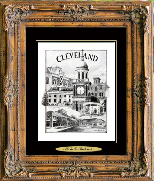 Pencil Drawing of Cleveland, TN