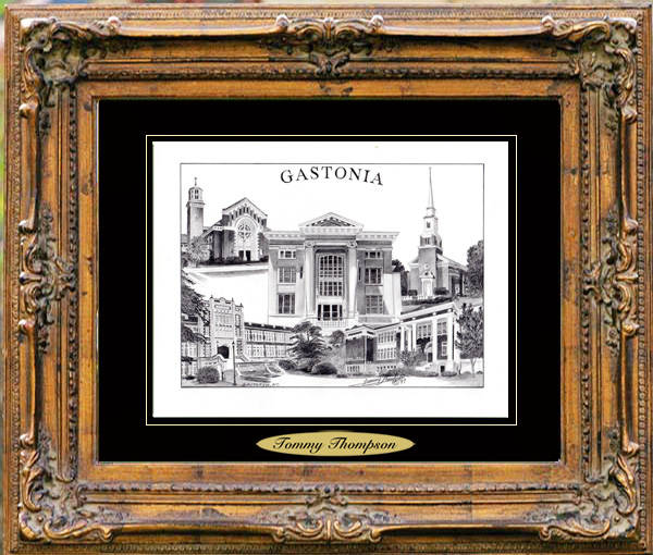 Pencil Drawing of Gastonia, NC