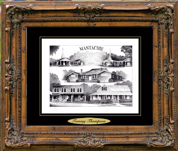 Pencil Drawing of Mantachie, MS