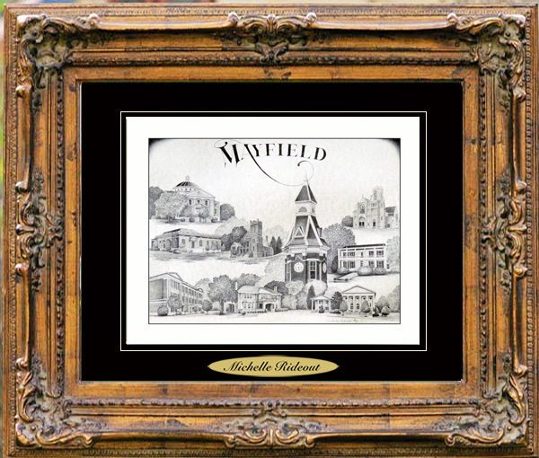 Pencil Drawing of Mayfield, KY