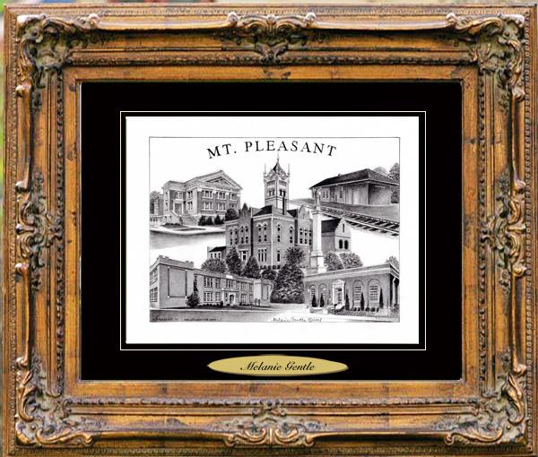 Pencil Drawing of Pleasant, TX