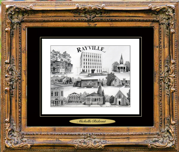 Pencil Drawing of Rayville, LA