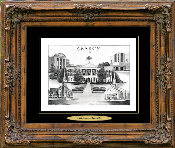 Pencil Drawing of Searcy, AR Two