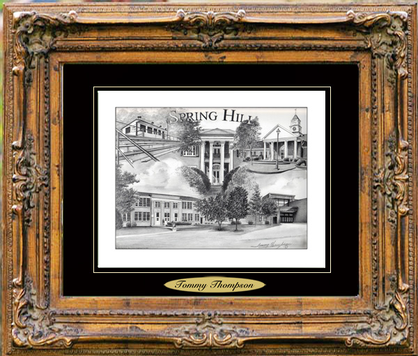 Pencil Drawing of Spring Hill, TN Two