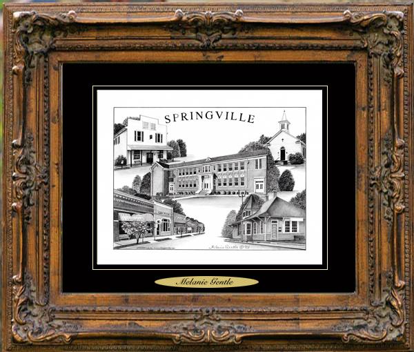 Pencil Drawing of Springville, AL