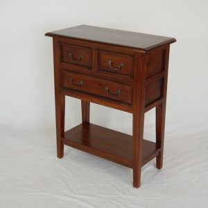 Java 3 Drawer Lamp Table - Medium