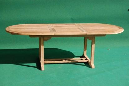 Teak Oval Extending Table M Villa And Hut - Teak oval extending table