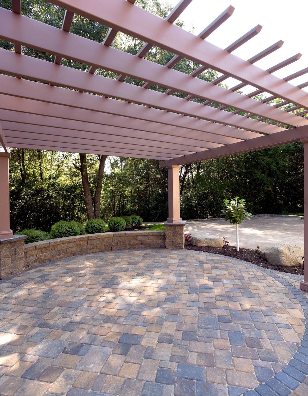 circular raised patio raises eyebrows
