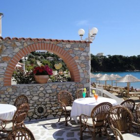 Beachfront cafe in Skiathos