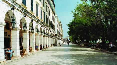 Sights of Corfu - Liston in Spianada Square