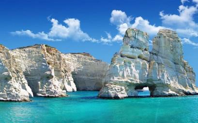 Kleftiko beach in Milos