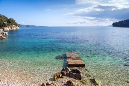 Kalami beach in Corfu