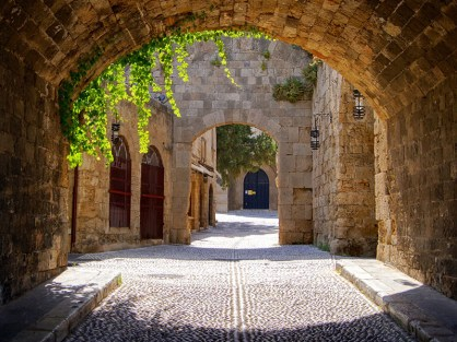 Street in the Old Town of Rhodes