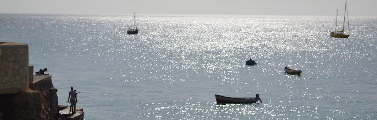 Sparkling sea at Vila do Maio, Cape Verde
