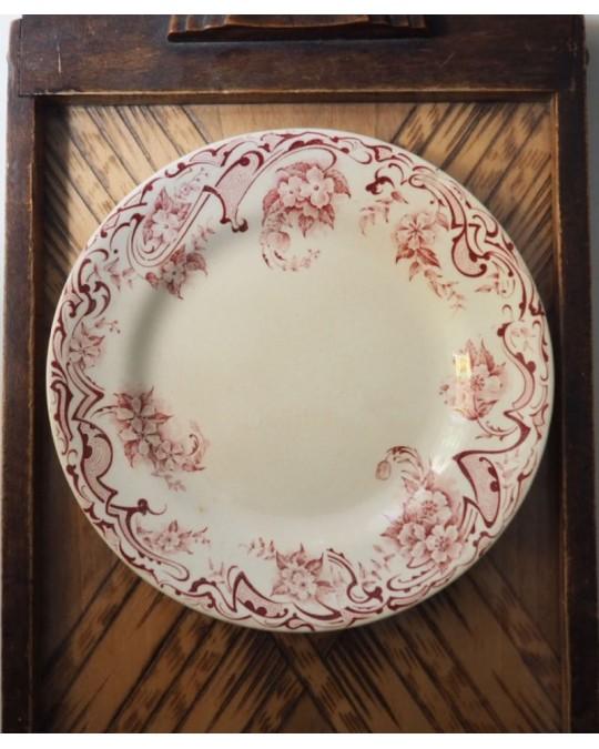 assiette dessert 1896 terre de fer