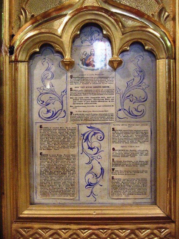 Maitre-autel détails 2- Eglise