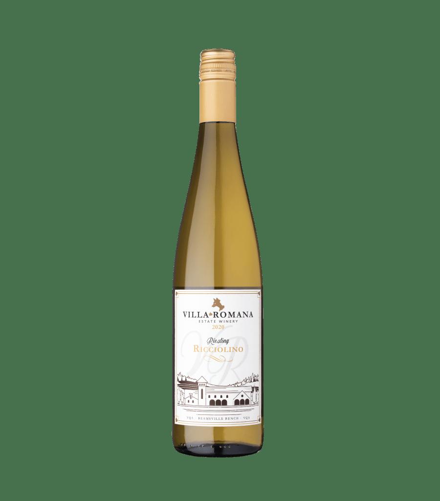 A bottle of 2020 Ricciolino Riesling from Villa Romana Estate Winery