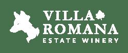 Villa Romana Horizontal Logo White