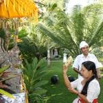 Offer bij huistempel Surya