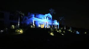 zagaleta villa in the evening