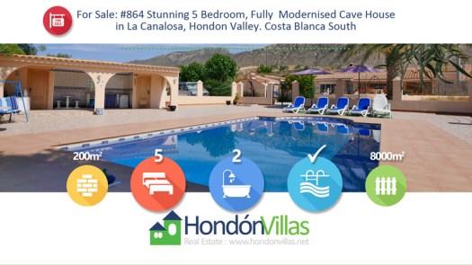 Hondon Villas La Canalosa Cave House