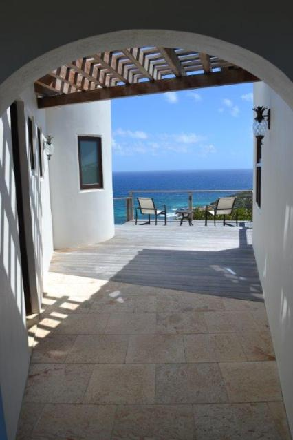 Outdoor Seating on the Breezeway with a View of the Reef