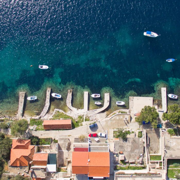 Karbuni Korcula Villa Tomislav From Air