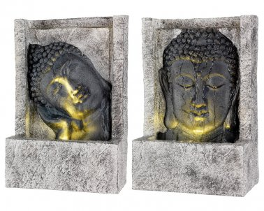 fontaine led bouddha poly pour