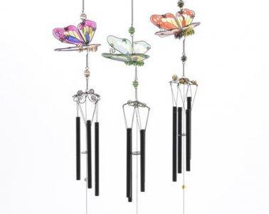 carillon metal papillon jardinerie