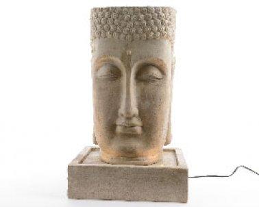 led fontaine poly tete bouddha