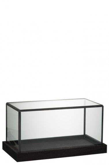 bois verre transparent noir