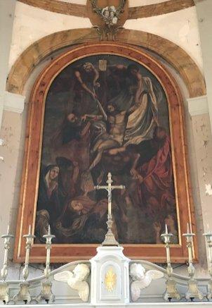 Tableau à l'église de Wailly