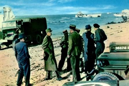 14 juin 1944 - Le Général de Gaulle débarque en France