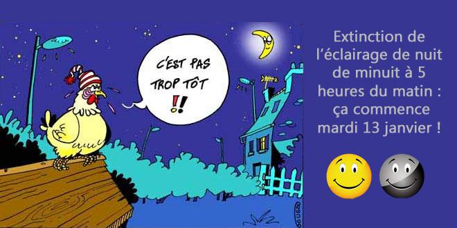 Extinction de l'éclairage public la nuit : ça commence le 13 janvier !